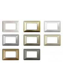 Placche compatibili bTicino MATIX 3 4 6 posti vari colori MODULI PLACCA per supporti 503SA