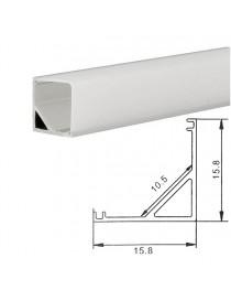 Profilo Alluminio ANGOLARE Strisce Strip LED Barra Rigida Copertura quadrato opaco