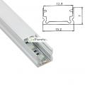 Profilo Alluminio sottile 13 mm Strisce Strip LED Barra Rigida Copertura Opaco