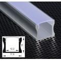 Profilo Alluminio lineare U alto Strisce Strip LED Barra Rigida Copertura Opaco