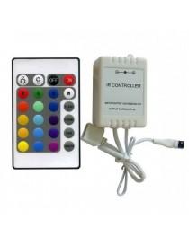 Controller con telecomando per strisce led rgb strip 12v 24v striscia colorata