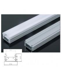 Profilo Alluminio superficie Strisce Strip LED Barra Rigida Copertura opaco