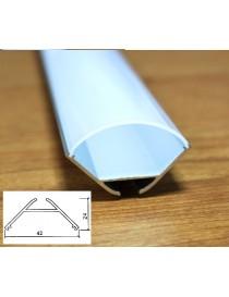 Profilo Alluminio 2M per Strisce Strip LED Barra Rigida ANGOLARE Copertura Opaco