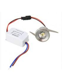 Punto luce segnapasso mini faretto luce led argento 1 watt incasso metallo