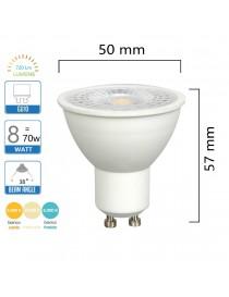 Lampadina gu10 8W led cob angolo luce 38° lampada faretto portafaretti incasso