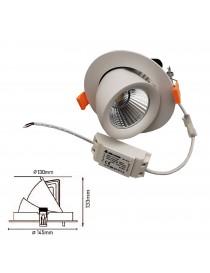 Faro led 20w incasso orientabile estraibile Ip40 tondo bianco luce naturale