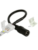 Connettore a clip 12mm 2 pin per striscia led strip 5050 jack femmina 2,5mm