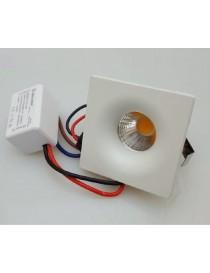 Punto luce quadrato 3 watt mini faretto luce led bianco incasso metallo