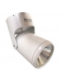 Faretto orientabile track spotlight 7w bianco supporto superficie muro soffitto