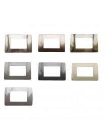 Placche compatibili bticino MATIX Metallo 3 4 6 posti vari colori MODULI PLACCA
