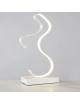 Lampada scivania led 10w onda bianco lume da tavolo moderno luce naturale /bianca