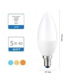Lampadina Led Oliva 5W E14 opaca lampada per lampadario luce Fredda Naturale Calda