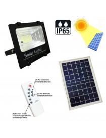 Faro led con pannello solare ricaricabile impermeabile esterno luce fredda IP65