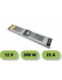 Trasformatore ultrasottile 12V 25A 300W alimentatore strip led 25mm