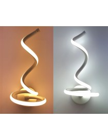 Applique parete spirale LED 20W moderna bianco lampada muro camera luce naturale