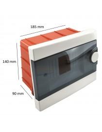 Quadro elettrico centralino 6 moduli DIN box incasso scatola IP40 interruttori
