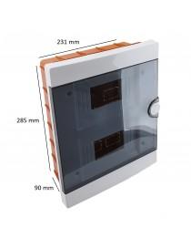 Quadro centralino elettrico 16 moduli incasso box scatola plastica IP40 bianco