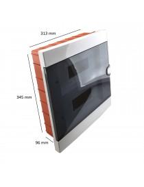 Quadro elettrico centralino 24 moduli DIN box incasso scatola IP40 interruttori