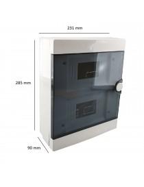 Quadro elettrico centralino 16 moduli DIN box superfice scatola IP40 interruttori