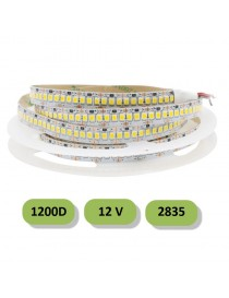 Striscia led 1200D 12V smd 2835 IP22 bobina 5 metri strip luce alta luminosità
