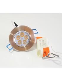Faro faretto led da incasso alluminio 5w ip20 orientabile rotondo luce naturale calda
