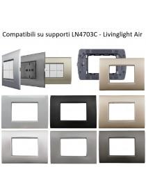 Placche compatibili bticino livinglight AIR placca quadra per supporti LN4703C