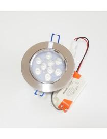 Faro faretto led da incasso alluminio 9w ip20 orientabile rotondo luce fredda calda