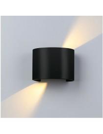 Applique parete 12w IP55 curvo nero luce led regolabile 6500k 3000k UP & DOWN