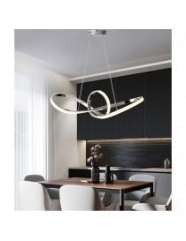 Lampadario led sospensione 50w intrecciato argento pendente moderno luce interno