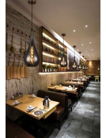 Lampadario a sospensione goccia E27 cromato argento pendente moderno cucina salotto