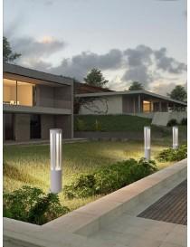 Lampione da giardino led 12w lampada per esterno lampioncino moderno bianco IP65