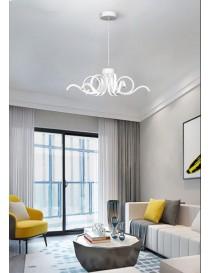 Lampadario da soffitto luce led 50w stile moderno lampada spirale onda bianco