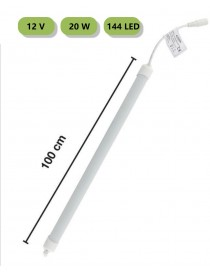 Striscia 144 LED rigida barra copertura opaco profilo alluminio 1 mt 12V bianco caldo naturale