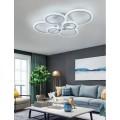 Lampadario da soffitto led 6 luci cerchi plafoniera design moderno per camera
