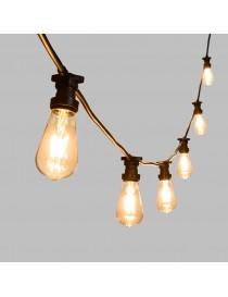 Catena serie luci portalampada E27 10mt esterno impermeabile ip65 prolungabile