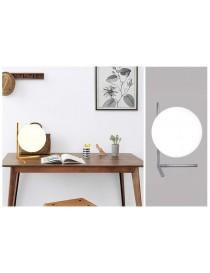 Lampada scrivania ramo con sfera E27 oro argento lucido luce tavolo moderno minimal led