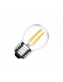 Lampadina led filamento globo  4w bulbo E27 sfera  trasparente luce  fredda bianca 6500k