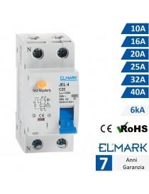 Interruttore differenziale salvavita per quadro elettrico guida din 2P moduli 6kA 30mA protezione da disperzione