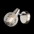 Applique parete design moderno faretto spot led E14 lume camera letto / specchio orientabile