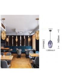 Lampadario sospeso led 12w sfera ovale in vetro lampada da soffitto per salotto design moderno luce bianca calda