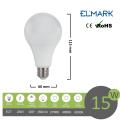 Lampadina led bulbo A60 E27 15w attacco grande sfera basso consumo luce fredda naturale calda