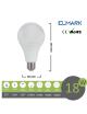 Lampadina led bulbo A65 E27 18w attacco grande sfera basso consumo luce fredda naturale calda