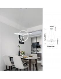Lampadario sospeso led cerchi 70w bianco design moderno pendente circolare luce fredda naturale calda