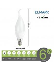Lampadina led oliva E14 8w attacco piccolo bianco basso consumo luce fredda naturale calda