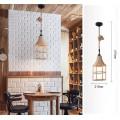 Lampadario sospeso con corda di canapa E27 portalampada campana attacco grande pendente da soffitto design vintage rustico