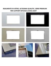Placche vetro compatibile bticino living light placca 3 4 7 moduli per supporti LN4703 N4703