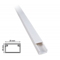 2 mt Canalina per cavi elettrica 25x16 mm in plastica passacavi bianco coprifili a parete con copertura