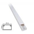 2 mt Canalina per cavi elettrica 100x60 mm in plastica passacavi bianco coprifili a parete con copertura