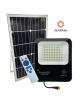 Faro solare led da esterno nero con telecomando e pannello luce bianca 6500k per giardino impermeabile