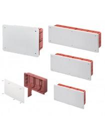 Scatola cassetta di derivazione da incasso con coperchio quadrata per collegamenti elettrici